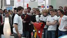 RoboCup German Open 2009 Final: Dynamaid offers a drink
